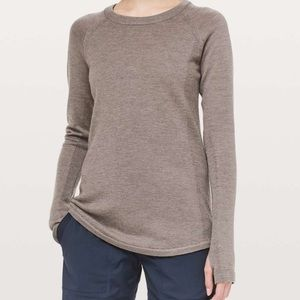 NWT Lululemon Sit In Lotus Sweater Cool Cocoa Sz 6